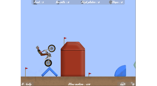 Open trial v1.21, the motorbike trial game, game screenshot, modern trial bike
