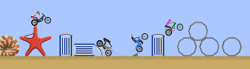 "Open trial, the motorbike trial game, Section ""The beach"", new section"
