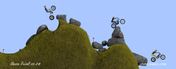 "Open trial, the motorbike trial game, ""The plates"", new section"