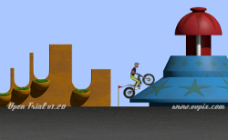 "Open trial, the motorbike trial game, ""Rocky pinball"", new section"